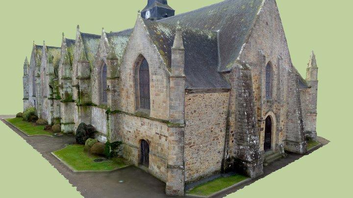 Église Saint Crépin et Saint Crépinien à Rannée 3D Model
