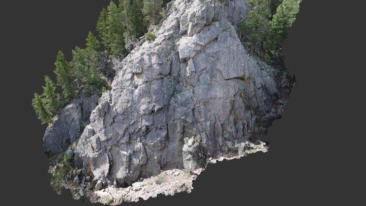 Cascade Crag Hi Res 3D Model