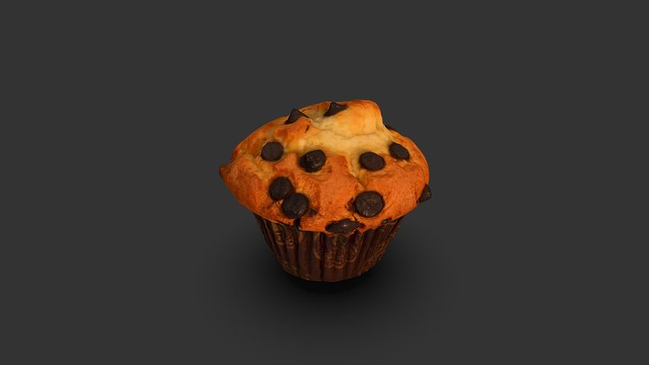 CHOCOLATE CHIP MUFFIN 3D MODEL 3D Model