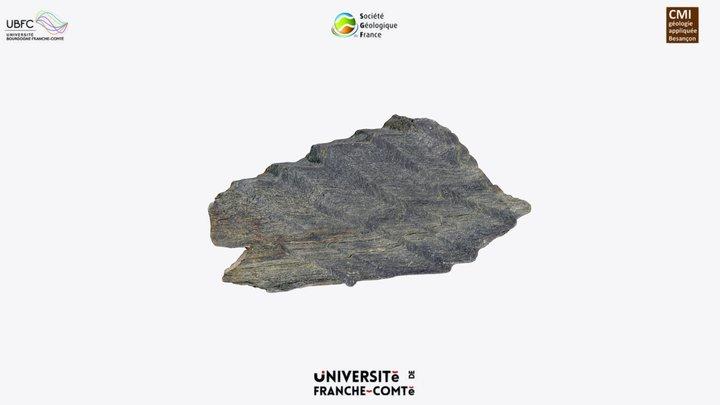 Crenulation in ultramafic rock 3D Model
