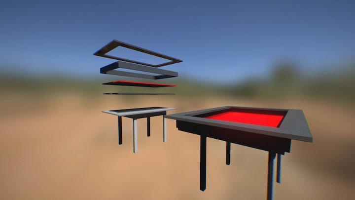 Boardgame Table 3D Model