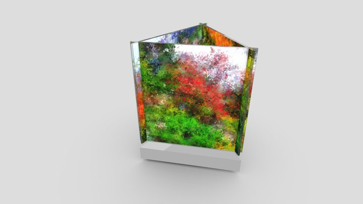 JTG Abstract Dream: Intersecting Edges Triangle 3D Model