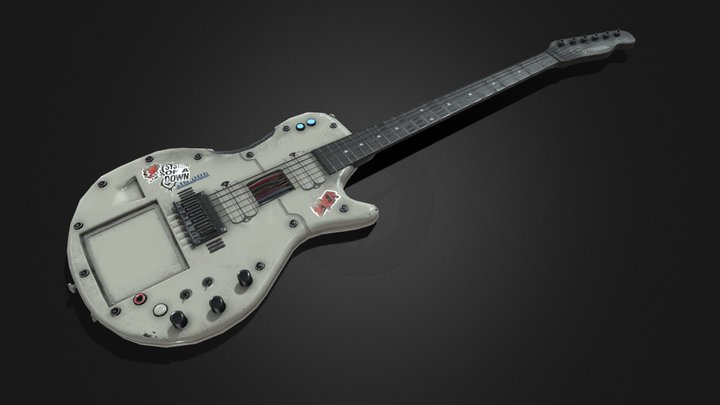 "Electric Guitar ""Cybertech"" 3D Model"