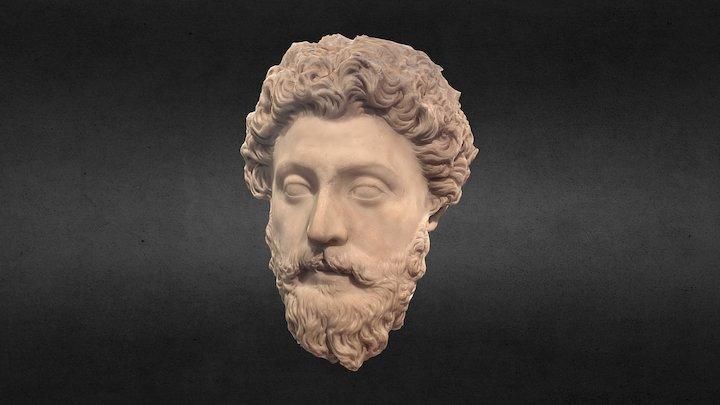 Portrait of the Emperor Marcus Aurelius 3D Model