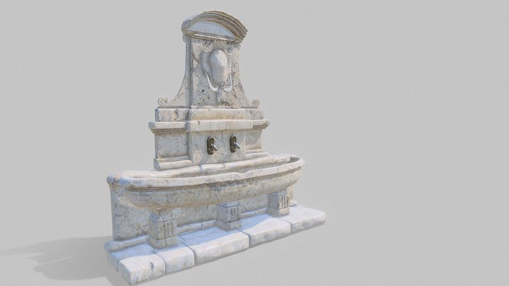 Stone fountain 19th century. 3D Model