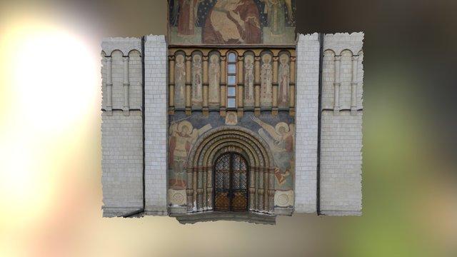Moscow Kremlin Catedral Doors 3D Model