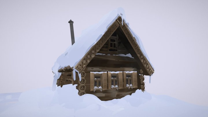 Quill - Little House 3D Model