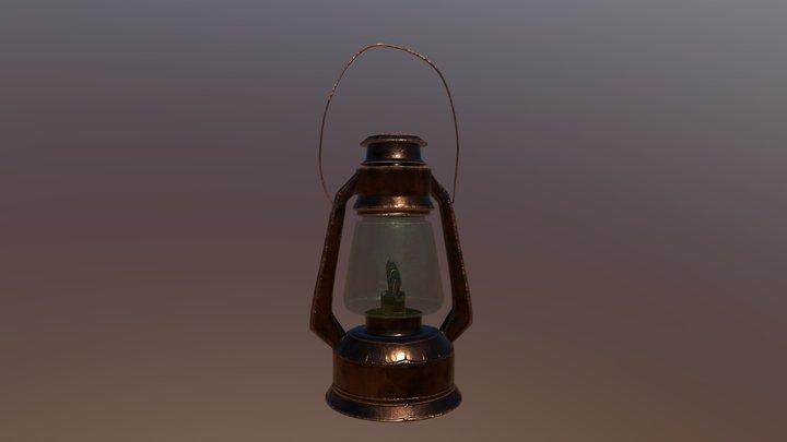 Old kerosene / oil lamp - free for download 3D Model