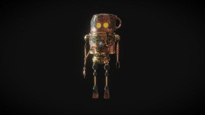 Steampunk post apocalyptic Robot 3D Model