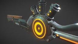 High Poly Sci-Fi Sword 3D Model