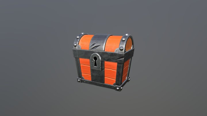 Stylized chest 3D Model