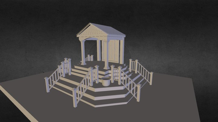 Wood Exterior Classic Set 3D Model