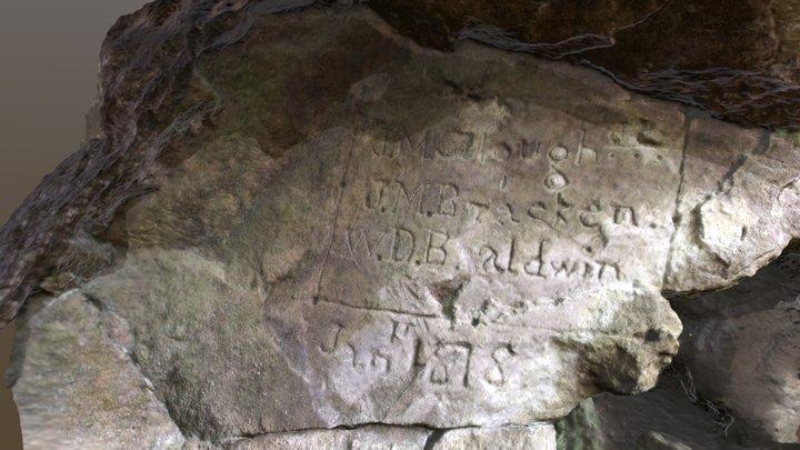 Belchertown Cave Inscription 3 3D Model