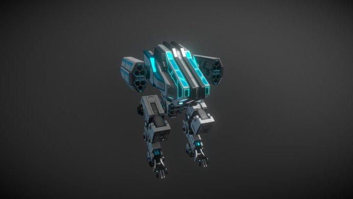 Digger Mech v2 - Battle Frontier game 3D Model