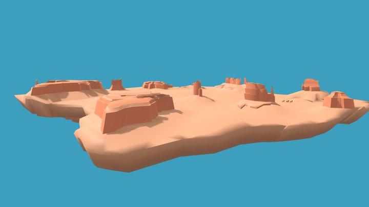 Monumet Valley-Utah/Arizona 3D Model