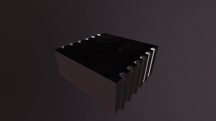 Sci-Fi room WIP 3D Model