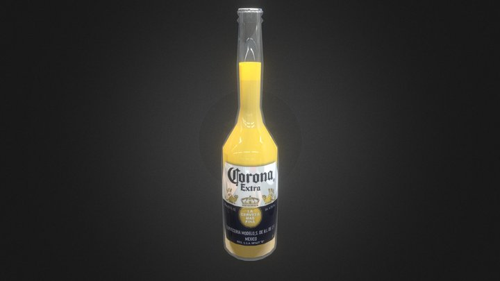 Corona Extra 355ml bottle (JAPAN) 3D Model