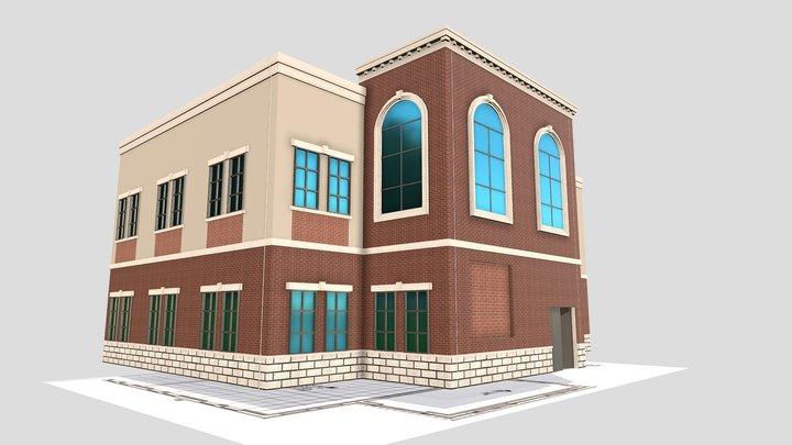 WPA High School South West Elevation 3D Model