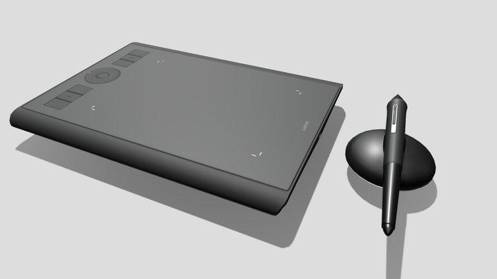Wacom Intuos Pro PTH-460 Small 3D Model