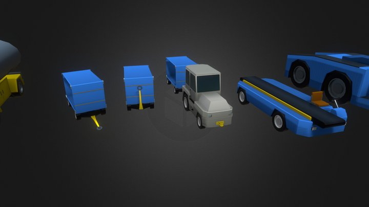 Airport Vehicles - Kodiak Set 3D Model