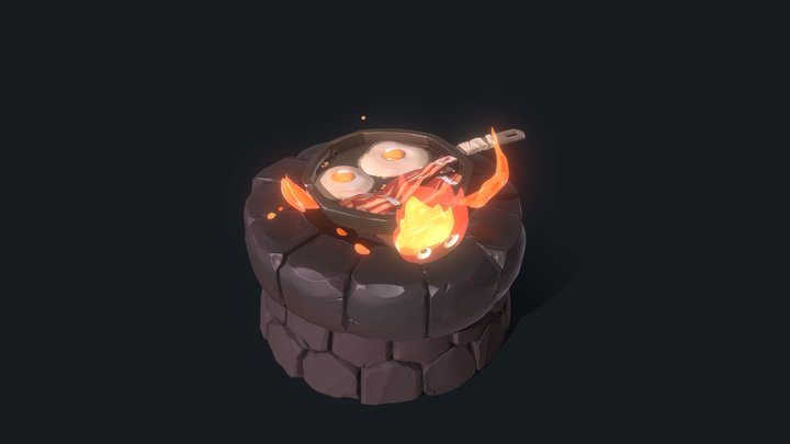 Eggs and Bacon 3D Model