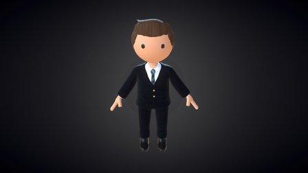 Businessman Cartoon 3D Model
