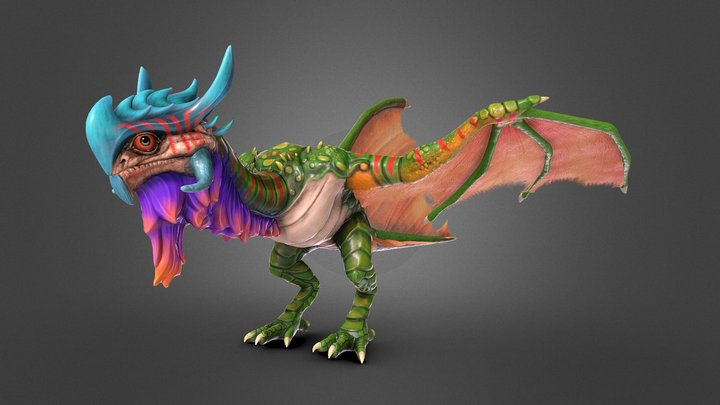 Jungle Wyvern 3D Model
