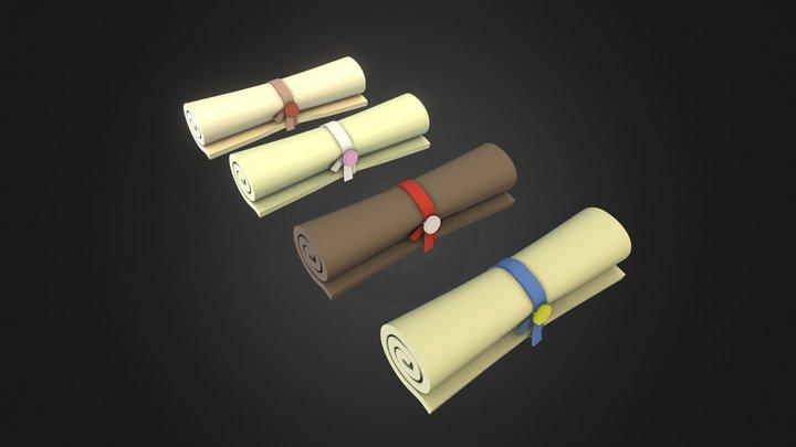 Magic scrolls 3D Model