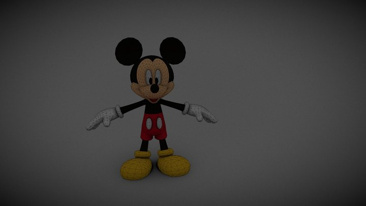 un wanid Mickey 3D Model