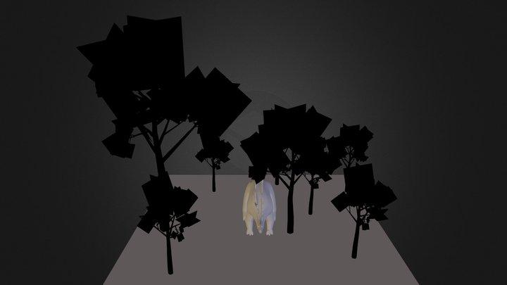 Stegosaurus in the Forest 3D Model