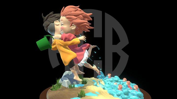 Ponyo and sosuke 3D Model