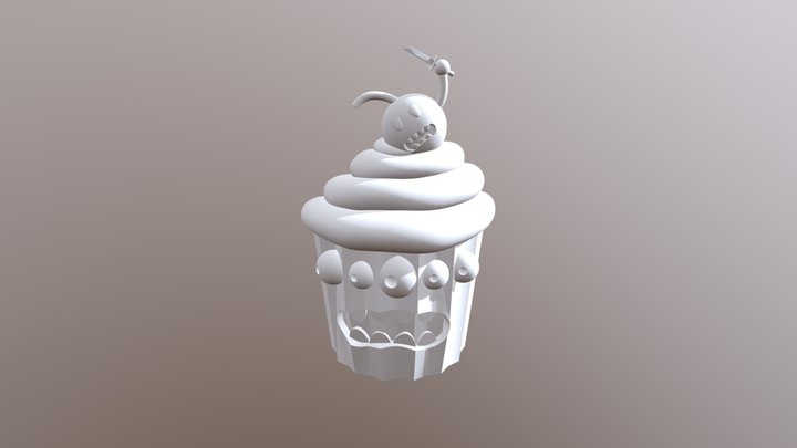 Cupcake and evil cherry 3D Model