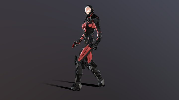 Cosmogirl 3D Model