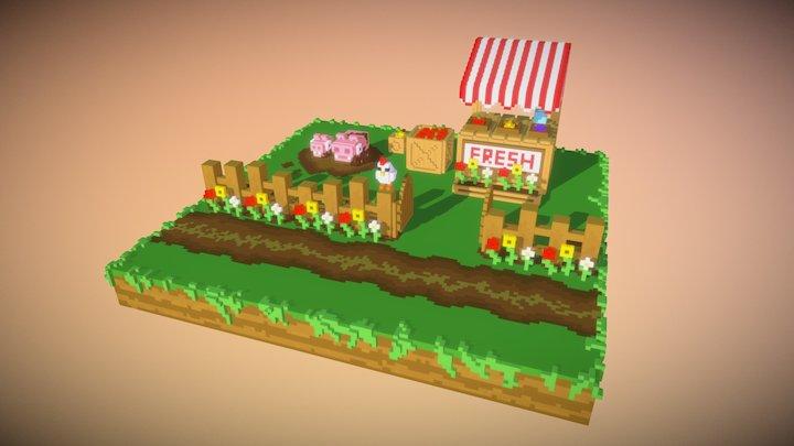 Farmstand 3D Model