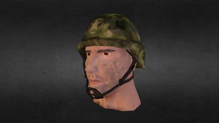 Soldier Head 3D Model