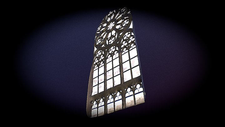 Window Cathedral 01 3D Model