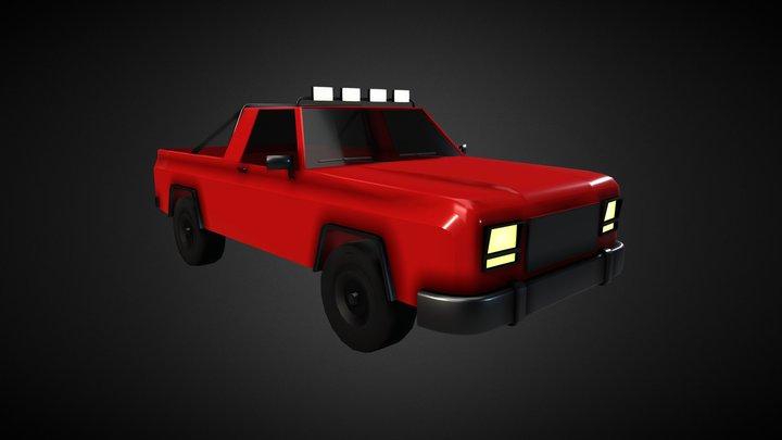 Pickup (lowpoly) 3D Model