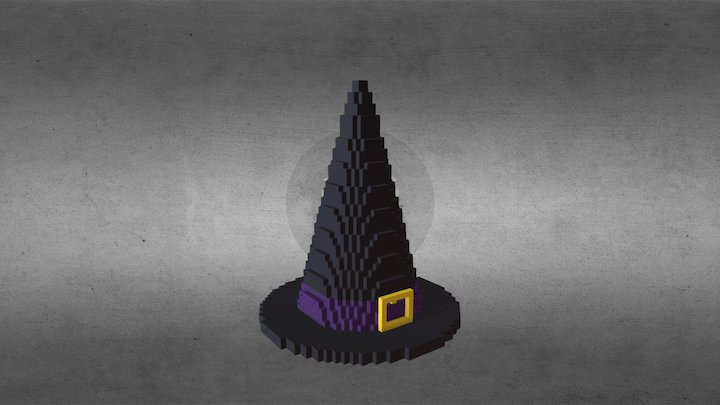 Witch Hat Minecraft 3D Model