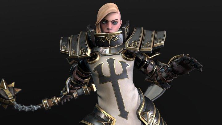Johanna - Heroes of the Storm Fan art 3D Model