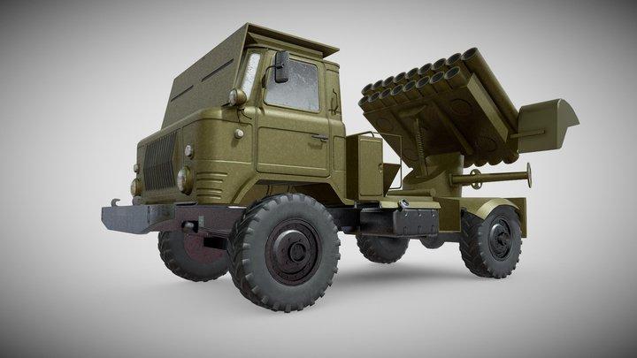 Martial Machine Jet Artillery BM-14-17M 3D Model