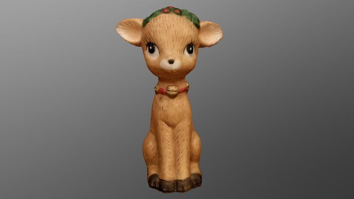 Christmas Deer 3D Model