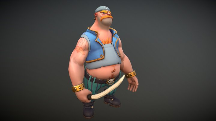 Lowpoly_Character_Pirate 3D Model