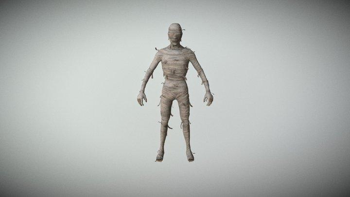 Mummy & Sarcophagus Pack PBR 3D Model