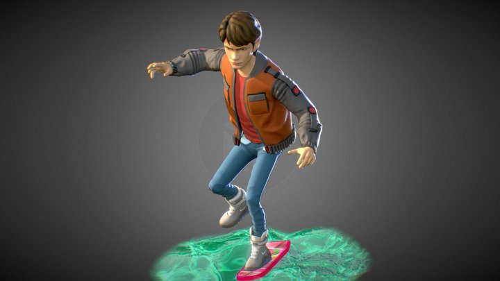 Marty McFly | Back to the Future 2 | WIP 3D Model