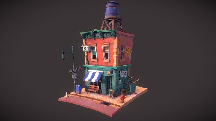 NY Cafe 3D Model