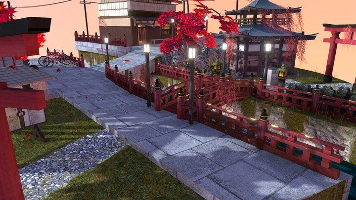 DAE Cityscene Kyoto 3D Model