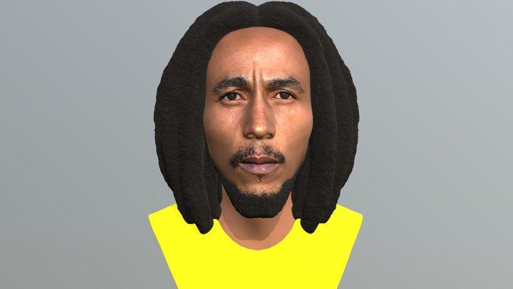 Bob Marley bust for full color 3D printing 3D Model