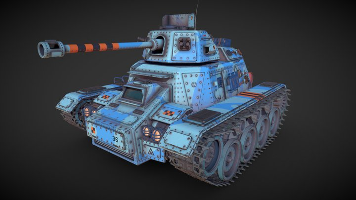 Tank Mk3 3D Model