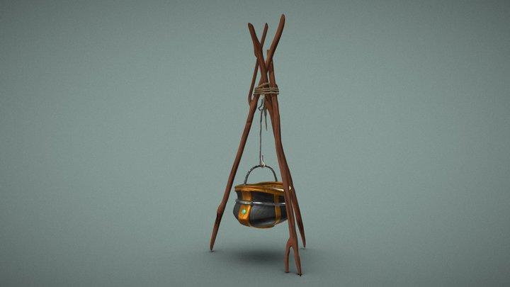 Sculpted ~ Cooking Pot 3D Model