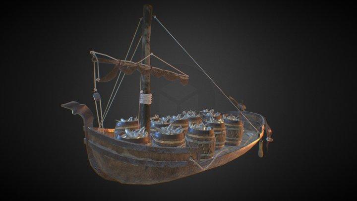 Bard's boat (The Hobbit) 3D Model